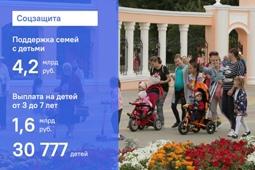 Семьи с детьми в Липецкой области получили более 4,2 млрд рублей в качестве соцподдержки