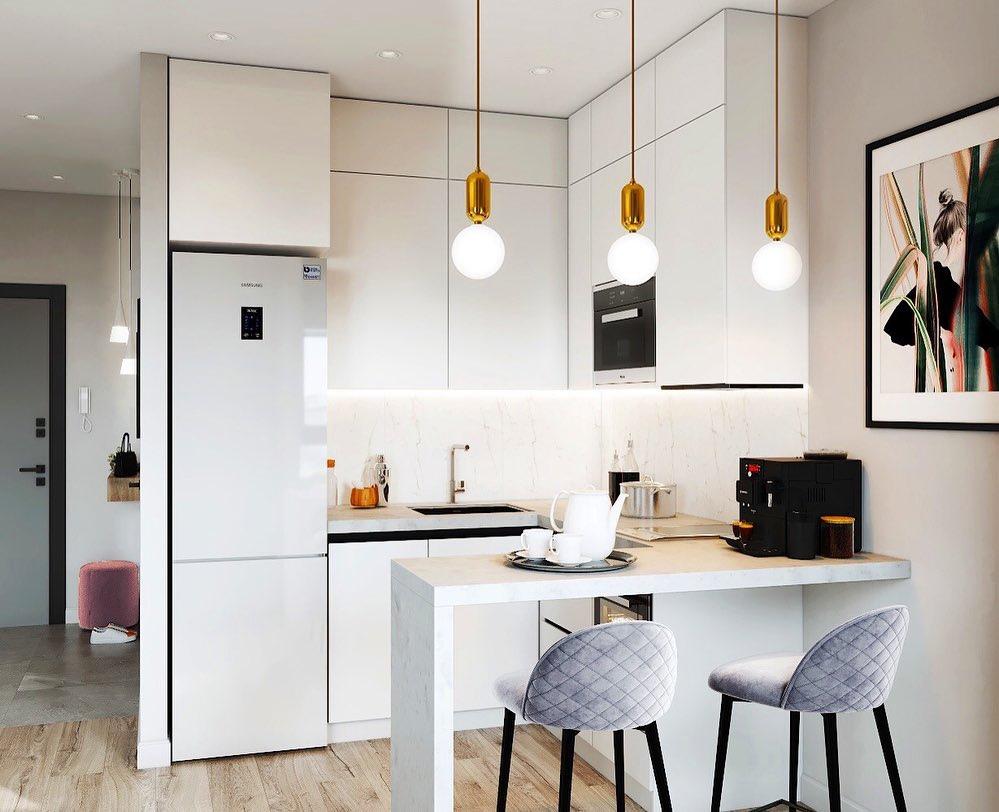 Концепт интерьера квартиры 25 кв.