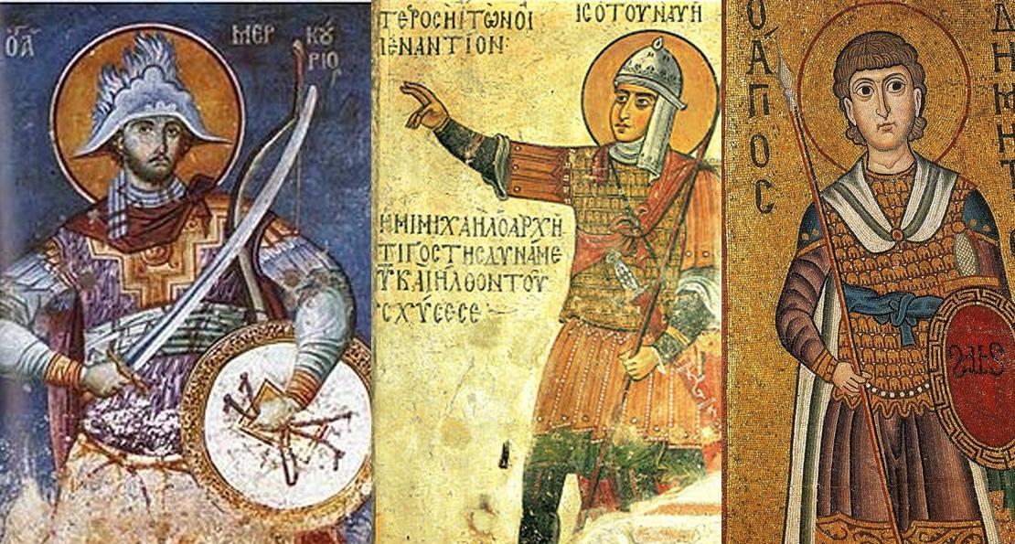 Воины на фресках