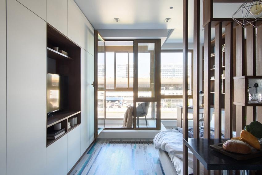 Интерьер квартиры-студии почти 30 кв.