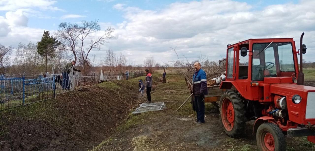Жители села Берёзовка присоединились к акции «Чистый четверг»