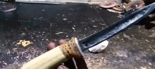 Якутский нож своими руками . ковка ножа