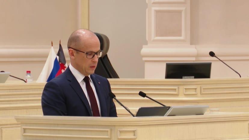 Выступление Александра Бречалова на заседании Госсовета началось