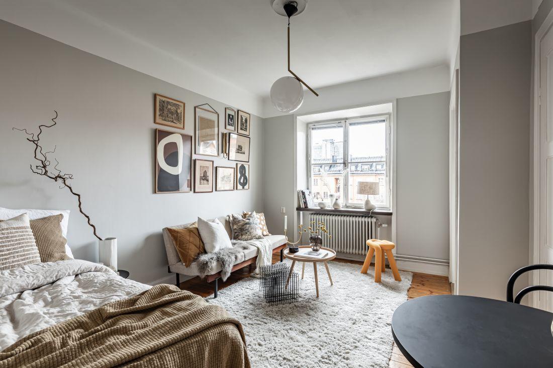 Маленькая скандинавская квартира 21 кв.