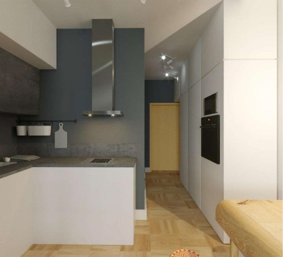 Проект квартиры-студии прямоугольной планировки 26 кв.