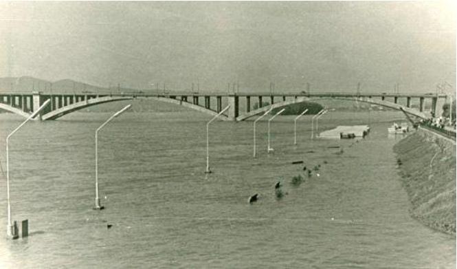 Наводнение в Красноярске, 1966 г.. Автор фото неизвестен.