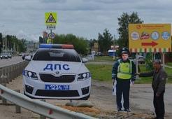 Первый муляж сотрудника ГИБДД, списанный с реального инспектора, установлен в Липецком районе