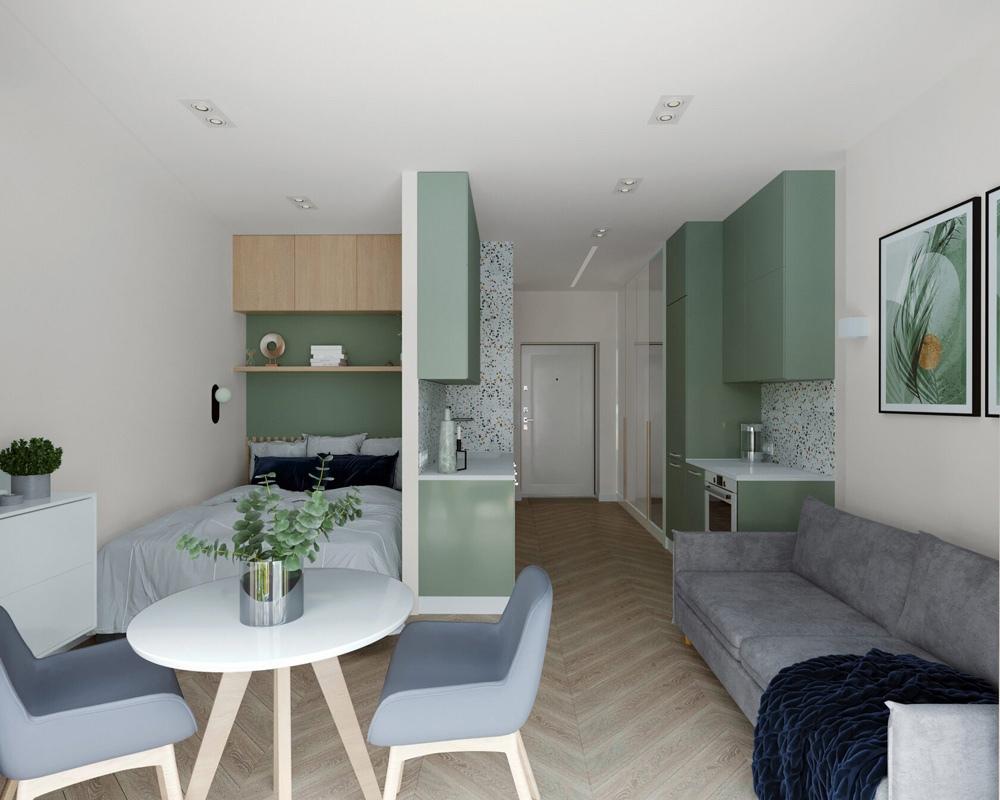 Дизайн-проект квартиры 26 кв.