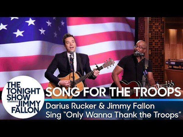 Darius Rucker and Jimmy - Only Wanna Thank the Troops (Hootie the Blowfish Parody) (The Tonight Show Starring Jimmy Fallon)