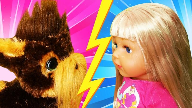 Смешные видео Кукла Беби Бон vs щенок Фуриал Чья игрушка лучше Принцессы Диснея игры онлайн