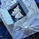 Ангел на окне — рождественская открытка, мастер-класс