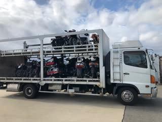 Мотоциклы из Японии - очередная партия покупок прибыла на сток