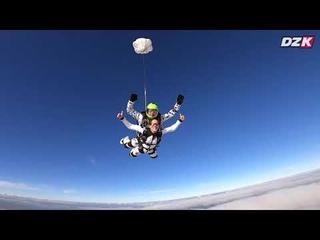 Прыжок с парашютом в Краснодаре. Видеосъёмка воздушным оператором.