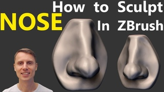 How To Sculpt The Nose In Zbrush