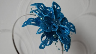 СНЕЖИНКА из фоамирана. Новогодний Ободок для волос./ SNOWFLAKE from foamiran. DIY