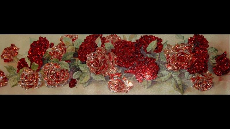 Алмазная вышивка Розы Часть 3 4 Чем заменить стилус Diamond embroidery Roses