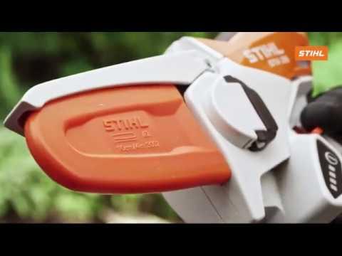 Новая аккумуляторная пила STIHL GTA 26 в действии