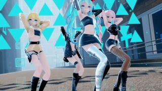 [MMD]BLACK PINK - Forever Young(Vocaloid Miku Haku Luka Rin)2K1440p60fps