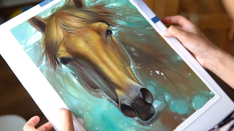 Самые лучшие кисти в мире ! Кисти для масляной живописи RosemaryCo. Как нарисовать портрет лошади