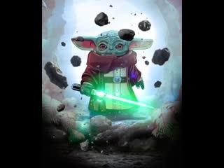 Baby Yoda Jedi Master