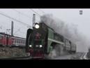 Неожиданный гость с Северной Ж.Д. Паровоз П36-0147 с туристическим поездом в сторону Коломны