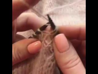Видеоурок по вязанию накладного кармана ЧАСТЬ