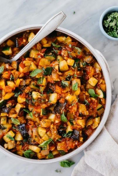 Рататуй из печёных овощей