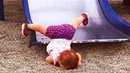 Cute Babies Have A Super Fun With Slide | Funny Babies and Pets