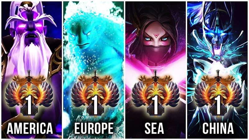 THE BEST PRO PLAYERS IN THE WORLD - TOP 1 OF EVERY REGION (CORE-MMR) - Dota 2