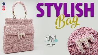 TUTORIAL UNCINETTO BORSA - STYLISH BAG || CROCHET  BAG 🌻 Momì's 🌻