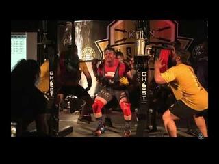 John Haack - raw squat 337,5 kg (90 kg)