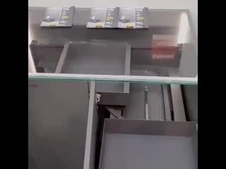 Необычная конструкция шкафа  Можно ли в домашних условиях механизм такой сделать