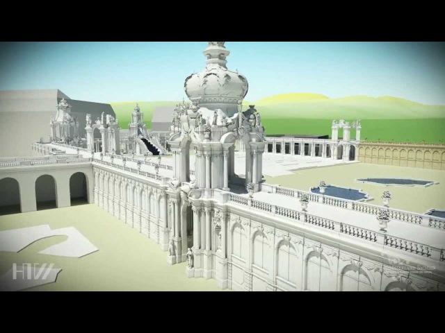 Dresdner Zwinger 3D virtuelle Animation