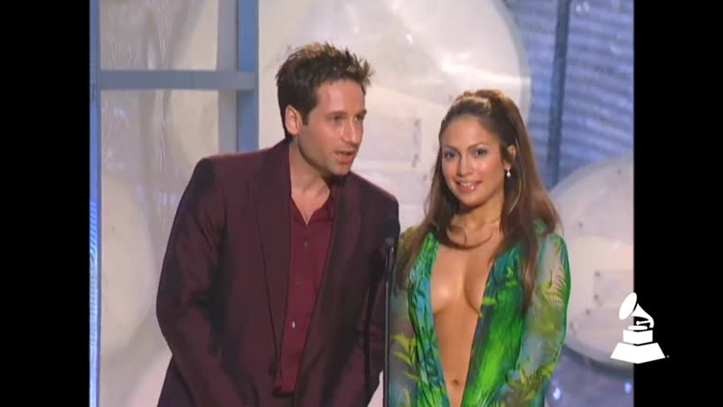 Jennifer Lopez And David Duchovny Present Best RB Album At The 42nd GRAMMY Awards