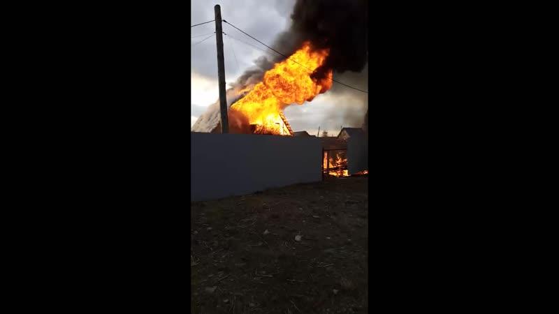 пожар за автомойкой по Велижанскому тракту