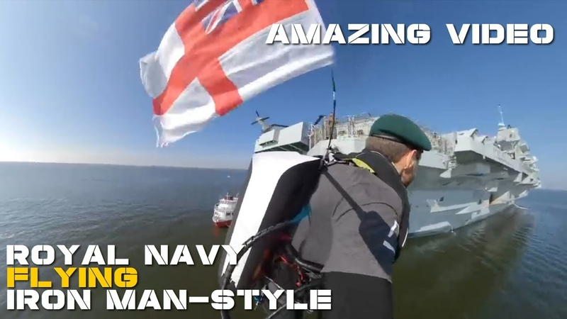 Royal Navy Has Tested Its Jet Suit Assault Team On The UK's Largest Carrier HMS Queen Elizabeth