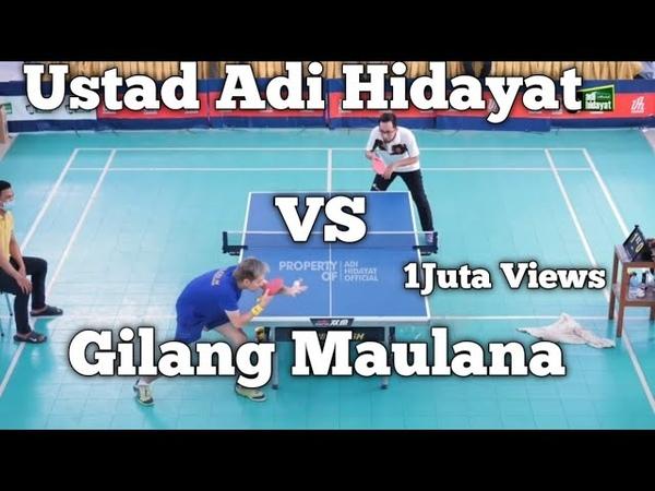 GILANG MAULANA VS USTAD ADI HIDAYAT UAH Silaturahmi Atlet Tenis Meja