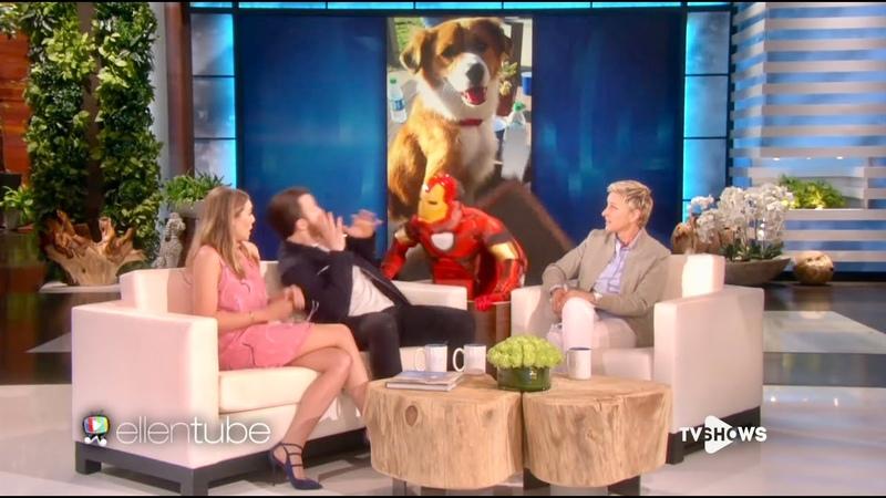 Капитана Америка жестко напугал Железный Человек Мстители на шоу Элен в озвучке TV Shows