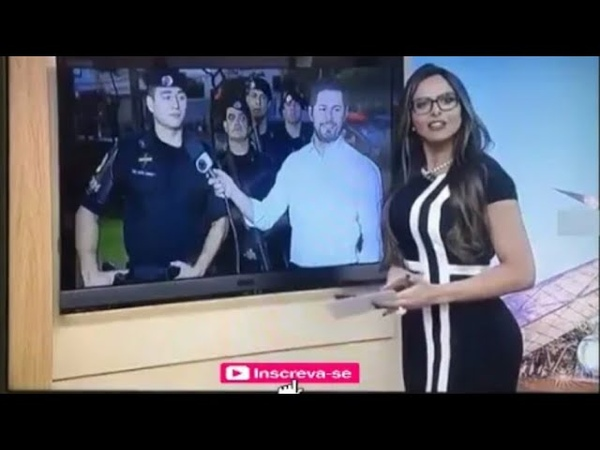 APRESENTADORA SYLVIE DA TV RECORD DA CANTADA EM POLICIAL E ACABA EM NOIVADO