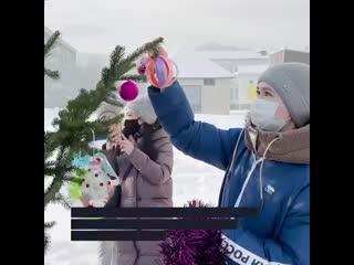 Волонтёры Единой России создают новогоднее настроение