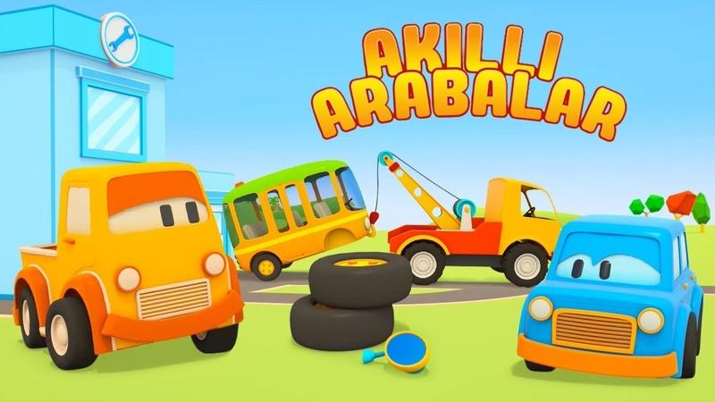 Çizgi film Akıllı arabalar Türkçe dublaj Arabalar tamirhanede Çocuklar için eğitici dizi