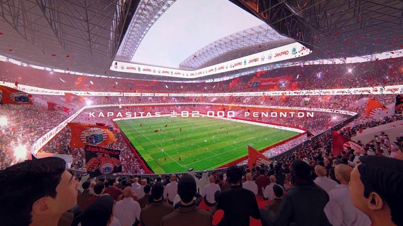 Проект нового стадиона в г Джакарта Индонезия Jakarta International Stadium